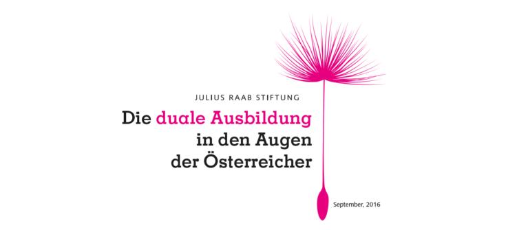 Die duale Ausbildung in den Augen der Österreicher